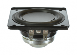 Ring-magnet mini-woofer speaker 3 inch square Oaktron model 93025