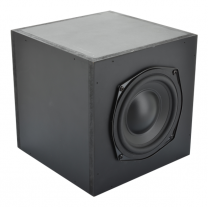 "5.25"" Subwoofer, 2.1 Channel Class-D Amplifier, Cube Enclosure"