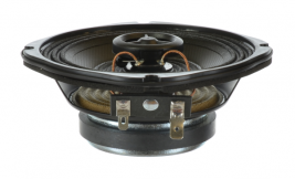 """A pin-cushion shaped, 4.5"""" coaxial speaker from MISCO -- 93077."""