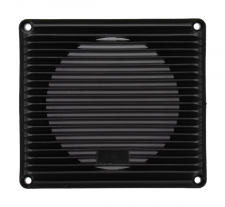 """A 4"""" rectangular plastic louvered grille for speakers - 24A238."""