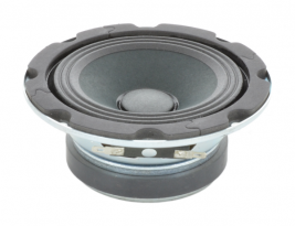 """A 4"""" high compliance speaker for paging systems -- Oaktron model OK4."""