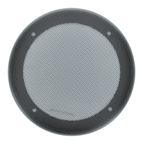 "A 5.25"" round plastic grille with wire mesh for automotive speakers - 54MG-M."