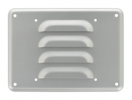 """A 6.5"""" aluminum louvered grille for speakers - 34AB."""