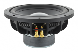 Cast frame subwoofer with convex dust cap, 10 inch round Bold North Audio model 82131