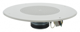 An 8 inch coaxial speaker with a tweeter, 8 watt transformer, and grille -- MISCO Speakers mode 93135.