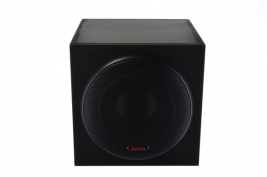 "5.25"" Subwoofer, 2.1 Channel Amp, Cube Enclosure with Grille"