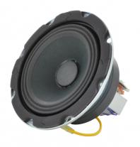 A 4 inch paging speaker with a 5 watt transformer -- Oaktron model 93132.