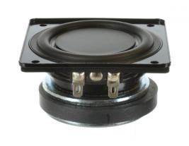 Flat cone mini-woofer speaker 3 inch square Oaktron model 93008