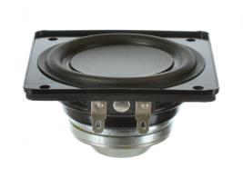 Ring-magnet mini-woofer speaker 3 inch square Oaktron model 93025