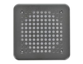 """A 5"""" square plastic grille from automotive speakers - 5PG."""