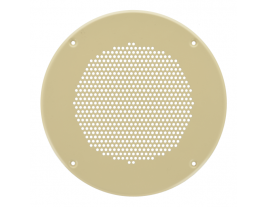 """An 8.5"""" round steel ceiling grille for speakers - 74287."""