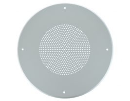 """A 13"""" round steel ceiling grille for speakers - 8WB."""